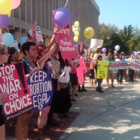 Hundreds Gather to Protest VA's Anti-Abortion TRAP laws