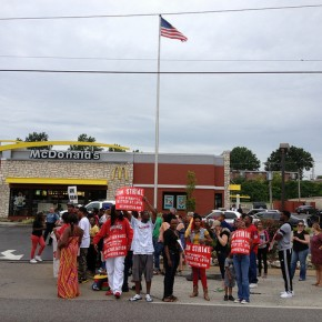 Fast Food Workers Demand Living Wage
