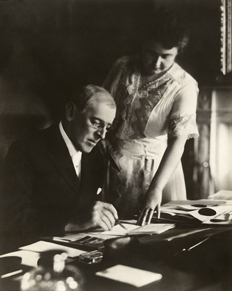 Woodrow and Edith Wilson via Wikimedia