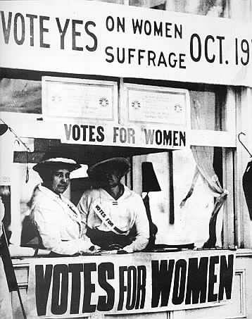 The New Jersey Women's Political Union booth on the Boardwalk in Asbury Park