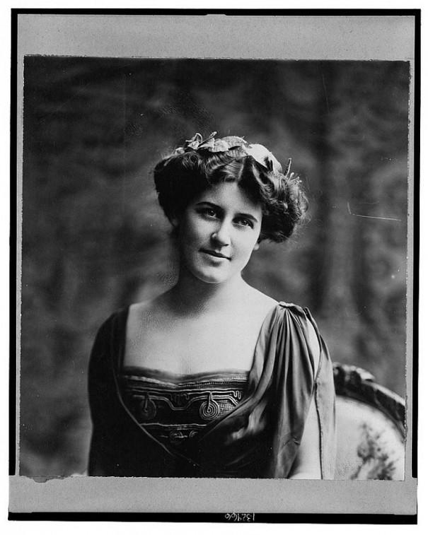 Inez Milholland, one of tonight's speakers and sister of fellow suffragist Vida Milholland.
