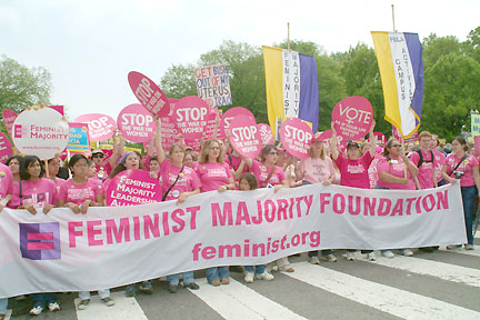 from the March for Women's Lives, 2004.