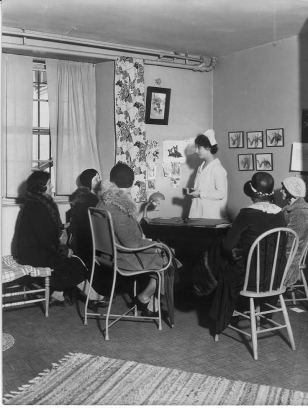 The Birth Control Clinical Research Bureau's clinic on a much calmer day.