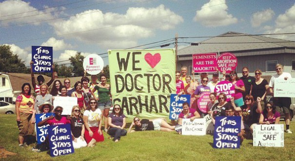 Feminist Campus activists take action to protect a clinic in Maryland.