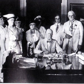 June 4, 1919: Women's Suffrage Amendment Headed to States for Ratification