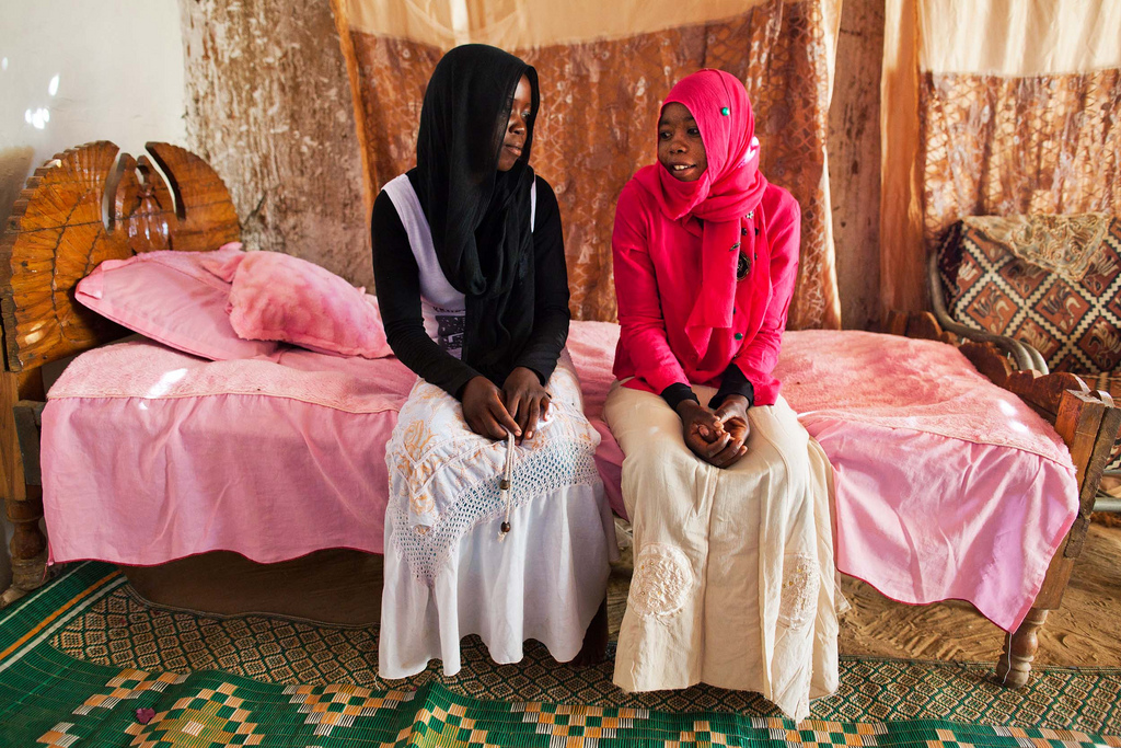Nana and Zakia Abdulrahman Mohamed Ahmed, sisters and child brides from Darfur, via UNAMID