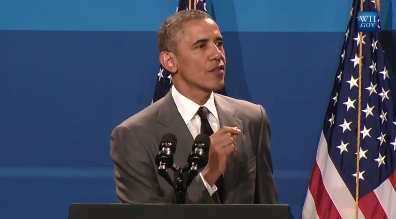 President Barack Obama at the Working Families Summit 2014