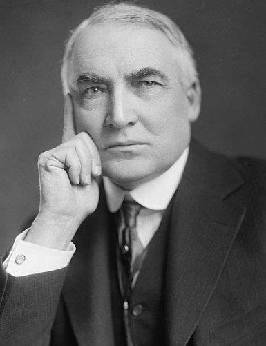 Republican Presidential nominee Senator Warren G. Harding