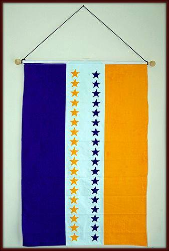 Alice Paul's 36-star ratification flag, on which she sewed a new star every time a State ratified the 19th Amendment.