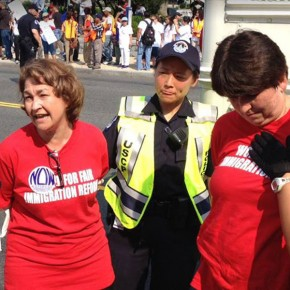 Terry O'Neill Was One of Hundreds Arrested Calling for Immigration Reform at White House Rally