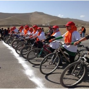 Afghan Girls Compete in Bike Race to Raise Awareness About Violence Against Women