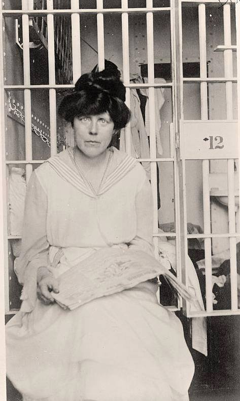 Lucy Burns during a recent term in Occoquan Workhouse.