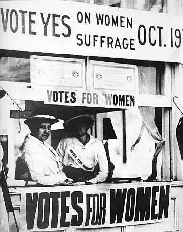 Promoting suffrage in New Jersey on the Asbury Park Boardwalk.
