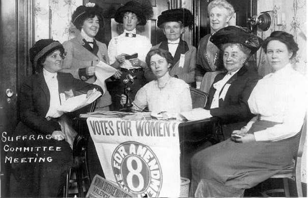 Suffrage advocates at a recent meeting in San Francisco.