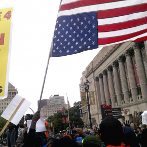 Inverted Flags, a Blood Fountain, and a Fist: Reading the Symbols of #FergusonOctober