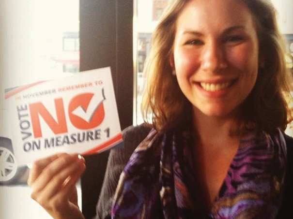 National Campus Organizer Alyssa has been on the ground in North Dakota fighting Measure 1.