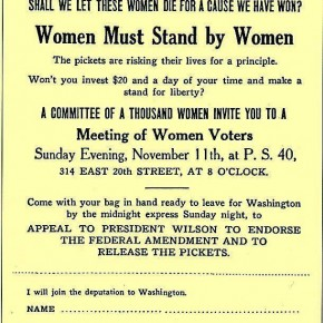 Today in Herstory: Jailed Suffrage Protesters Show Support for Alice Paul