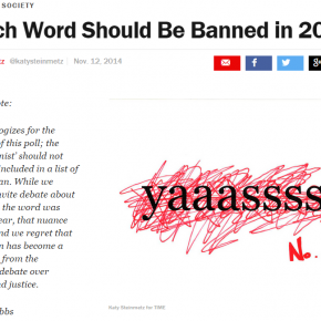 "Victory: TIME Apologizes for Including ""Feminist"" in Poll of Words to Ban"