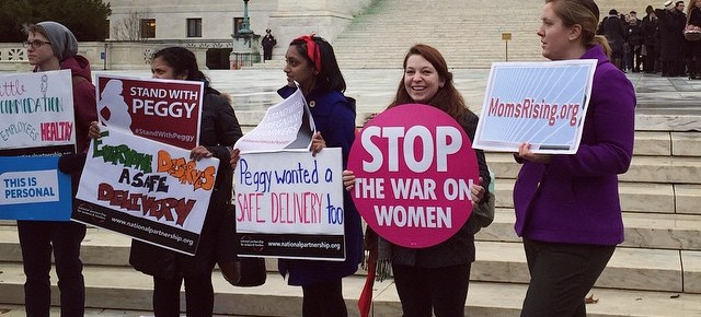 Supreme Court Hears Pregnancy Discrimination Case While Advocates Rally Outside