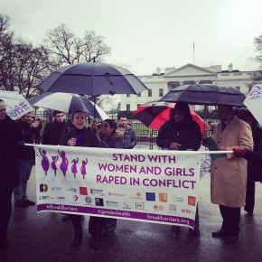Activists Call on the President to Stand with Survivors of Rape in War