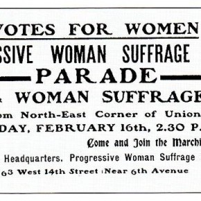 Today in Herstory: Progressive Woman Suffrage Union Opens NYC Office