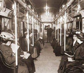 Today in Herstory: Women-Only Public Transit Cars Gain Traction in NYC