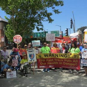 "Groups Hold National Day of Action to Oppose ""Fast Tracking"" of TPP"