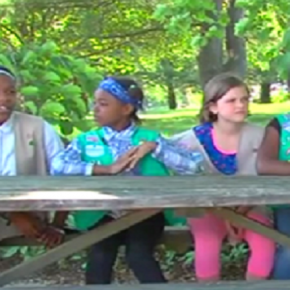 Adults Shout Racist Insults at Girl Scouts Protesting Animal Abuse
