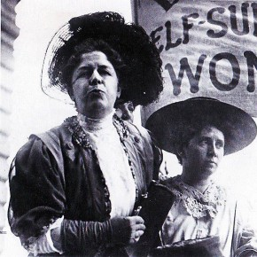 Today in Herstory: Seven Suffragists Invade Manhattan's Financial District