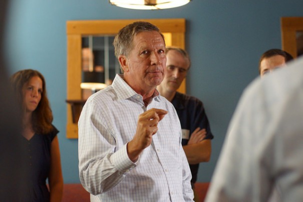 Photo of Ohio Governor Kasich via  Marc Nozell