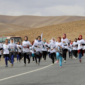 Afghan Woman Runs in Country's First Marathon