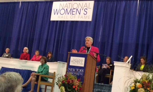 Eleanor Smeal giving her acceptance speech
